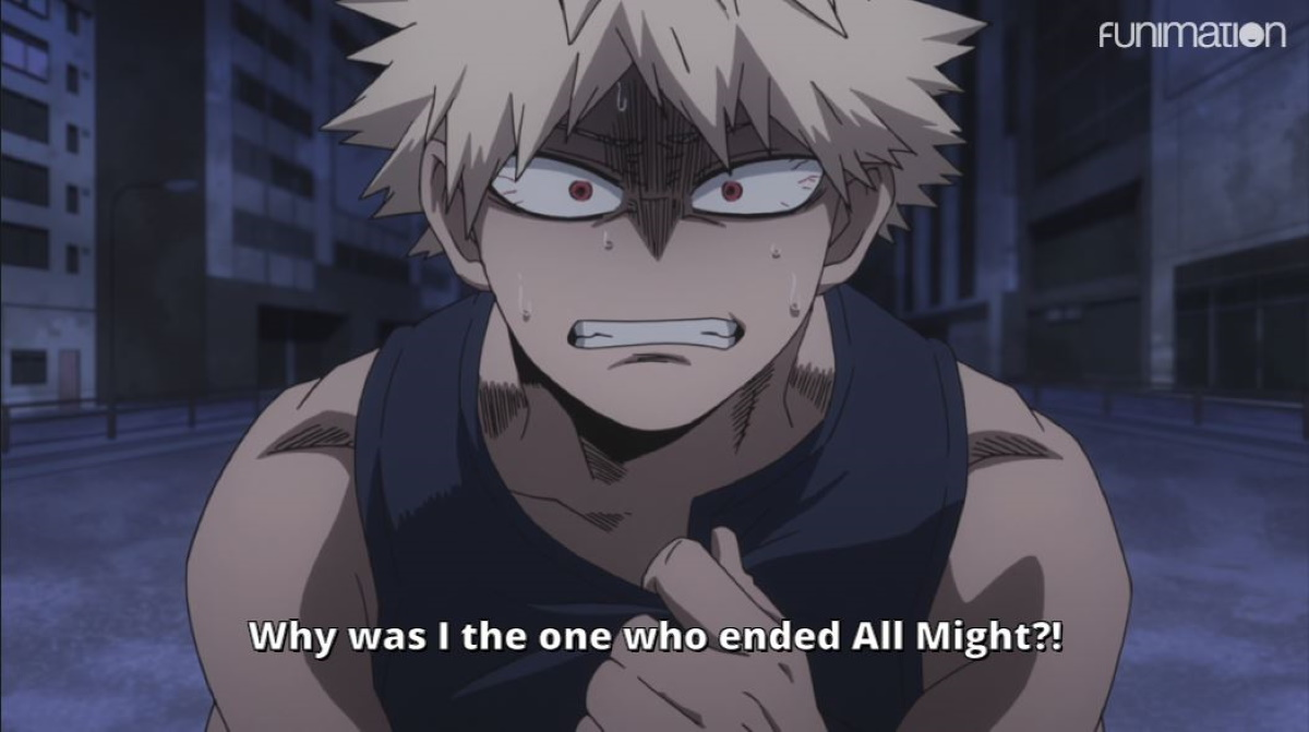Bakugo blames himself for All Might's retirement