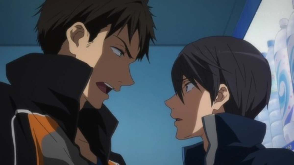 Sousuke meets Haru and they talk