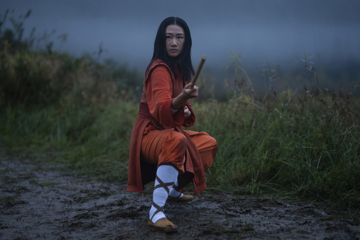 """Kung Fu -- """"Pilot"""" -- Image Number: KF101d_0110r.jpg -- Pictured: Olivia Liang as Nicky Shen -- Photo: Kailey Schwerman/The CW -- © 2021 The CW Network, LLC. All Rights Reserved"""