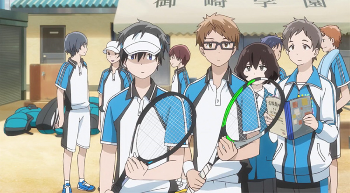 The soft tennis team