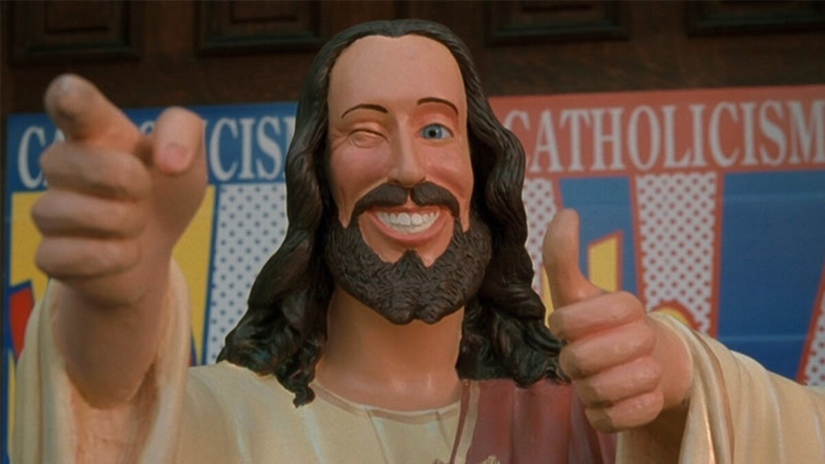 smiling buddy jesus christ from the movie dogma