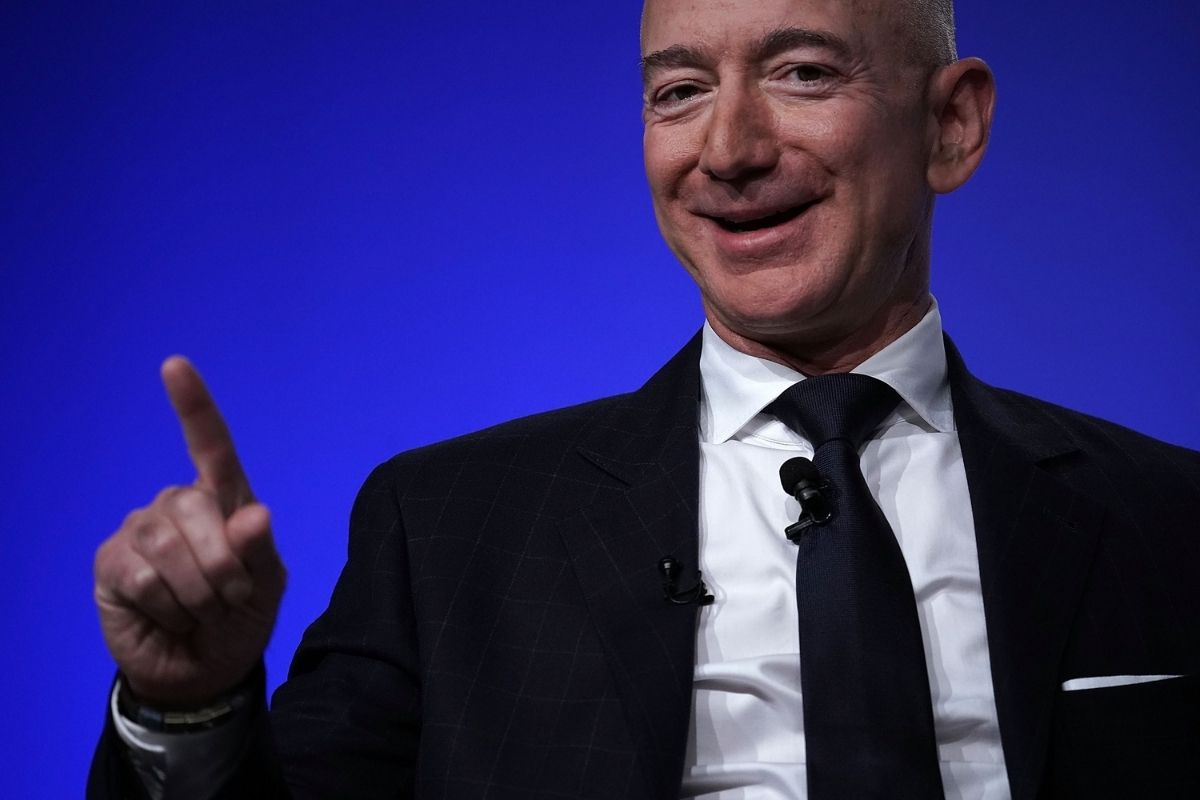 Amazon's Jeff Bezos at Air Force Association Air, Space, and Cyber Conference.