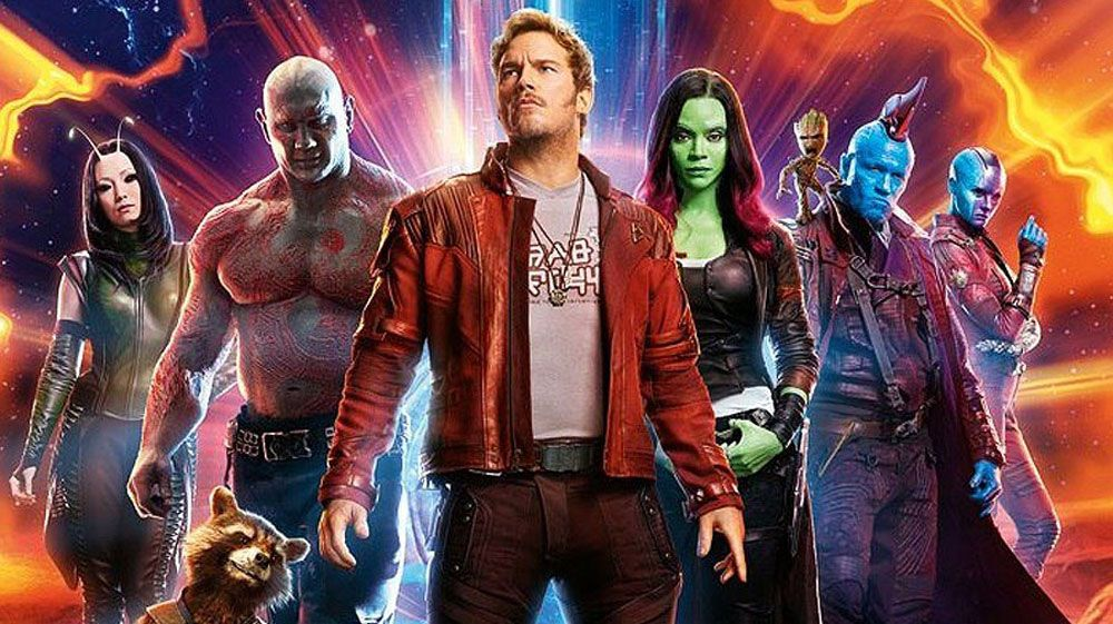 Cast promotion picture of the Guardians of the Galaxy 2