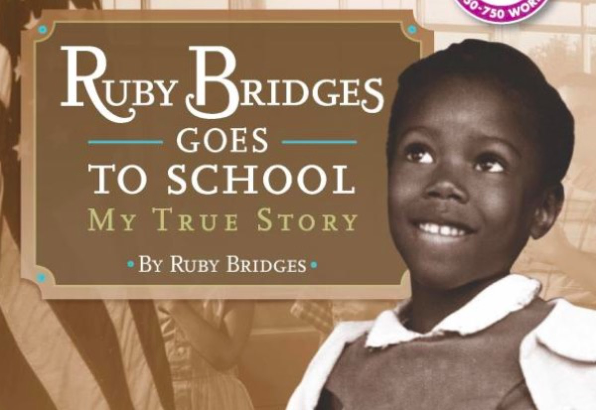 Ruby Bridges Goes to School book cover.