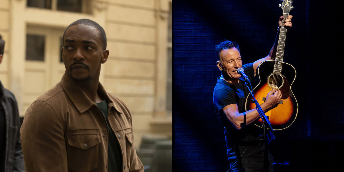 Anthony Mackie and Bruce Springsteen