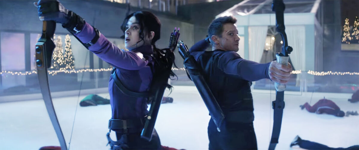 Kate Bishop and Clint Barton in Marvel's Hawkeye