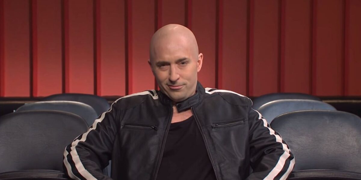 Beck Bennett as Vin Diesel welcoming us back to the movies on SNL.