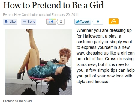 How To Pretend To Be A Girl