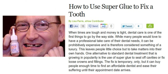 How To Use Superglue To Fix A Tooth